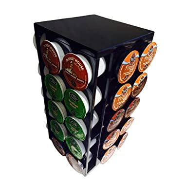 "#1 Coffee Pod Carousel, Compact & Stylish! Save Space & Keep Your Favorite Flavors At Your Fingertips, Convenient & Easy Turning Base Holder, Small & Light Weight Only 12"" X 5.5"". Holds 40 Pods Perfectly, Bring Modern Living To Your Kitchen"