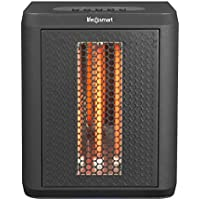 Lifesmart MCHT1120US Tabletop Infrared Heater Fan, Black