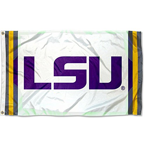 (College Flags and Banners Co. Louisiana State LSU Tigers Field Stripes Flag)