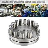 Disc Cutter Set, Punch Die Disc Set Irregular Metal Circle Round Punching Cut Jewelry ToolsHole Metal Forming Die Cutting Tool 17 Round