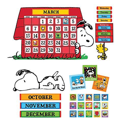 Eureka EU-847152BN Peanuts Calendar Bulletin Board Set, 2 Sets