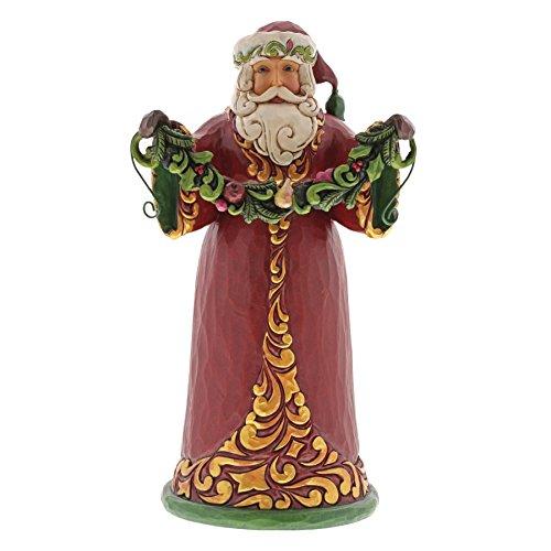 Enesco Jim Shore Heartwood Creek Red/Green Santa -