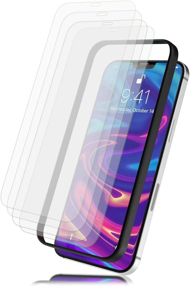 NALIA (4X) Cristal Templado & Aplicador Compatible con iPhone 12 / iPhone 12 Pro Protector Pantalla, 9H [Case-Friendly] Screen Protector con Kit de Instalación Fácil Alineación Film - Transparente