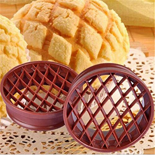 Pastry Cutters - 10.4cm Diam Plastic Lattice Press Pineapple Bun Mold Bread Cake Mould Biscuit Stamp Moulds Pastry - Round Pies Pastry Cutters -