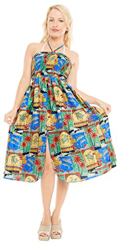 Halter Aloha Playa f242 Ropa de para Maxi Superior Traje Mujer Verde Falda Encubrir de Vestido de Tirantes Tubo baño Midi la de Vestido qWqpZF