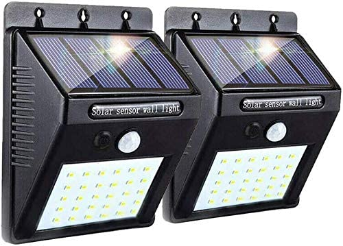 Solar Motion Light, Super Bright Sensor Garden Night Lights, 20 LED Waterproof Security Wall Lights Wireless Outdoor Powerful Detector LED Lights for Garage Door Path Walkway Patio Deck Shed 2 Packs