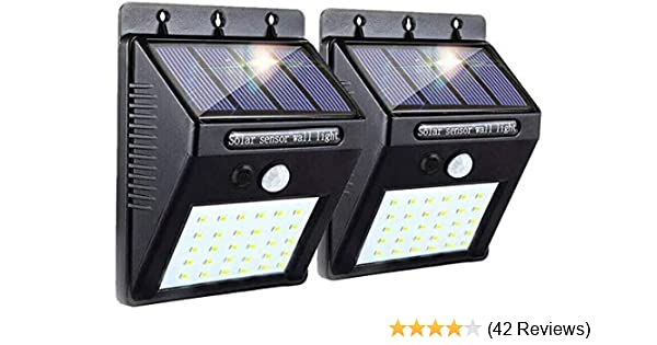 4X 20 LED Solar Power Motion Sensor Wall Light Outdoor Garden Waterproof Lamp EN