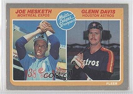 Amazoncom Joe Hesketh Glenn Davis Baseball Card 1985