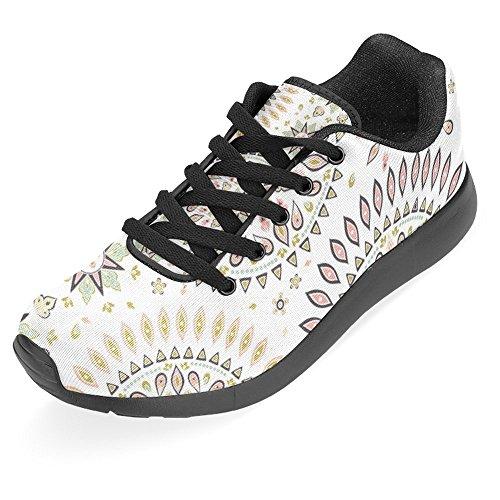 Interessante Donna Da Jogging Corsa Sneaker Leggero Andare Facile Camminare Casual Comodità Scarpe Da Corsa Retro Est Indietro Con Turbinio Etnico Armonico Cosmico Loto Yoga Boho Multi 1