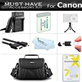 Must Have Accessory Kit For Canon PowerShot SX720 HS, CANON G7 X Mark II, G7 X, G9 X, G5 X Digital Camera Includes Extended Replacement NB-13L Battery + Ac/Dc Charger + Micro HDMI Cable + Case + More