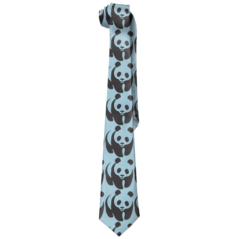 Shadidi Mens Wwf Panda Baby Fashion Tie Necktie