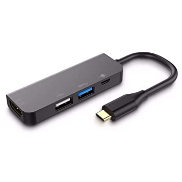 Adaptador de concentrador USB Tipo-C 7in1 de Aluminio Lector de ...