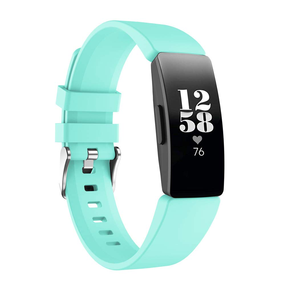 For Fitbit Inspire/Inspire HR,Shaoshao Replacement New Fashion Sports Silicone Wristband Band Strap Bracelet (Mint Green)