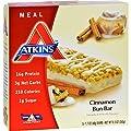 Atkins Advantage Bar Cinnamon Bun - 5 Bars - 16g Protein - Good For All Atkins Phases