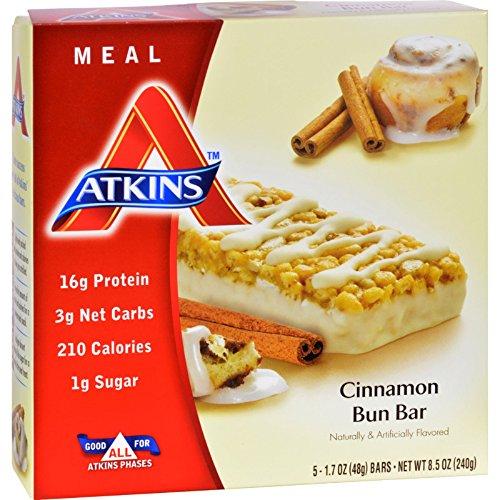ATKINS Advantage Bar Cinnamon Bun - 16g Protein - Low Sug...