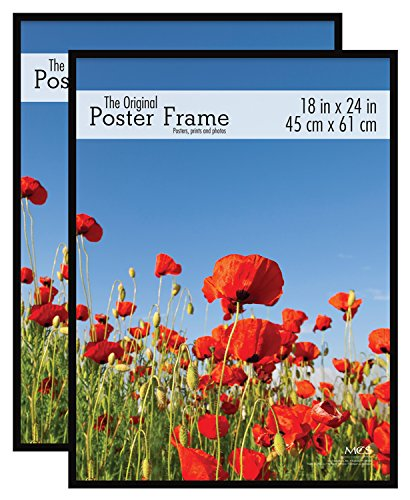 MCS 18x24 Inch Original Poster Frame 2-Pack, Black, (65664) by MCS
