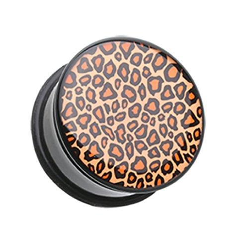 leopard print fake plugs - 8