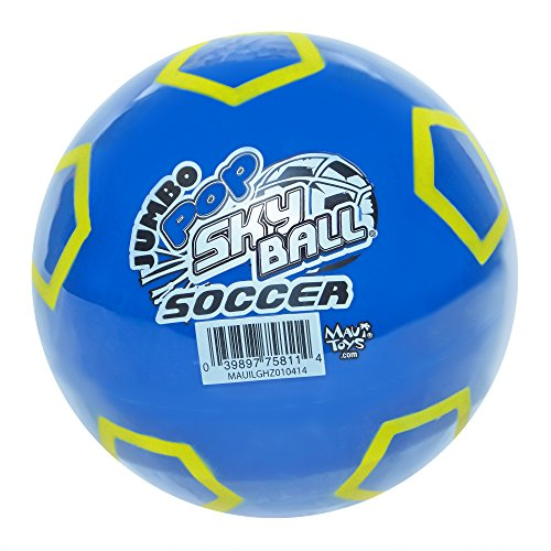 Maui Toys Jumbo Pop Soccer Sky Ball, 120mm, Assorted Colors