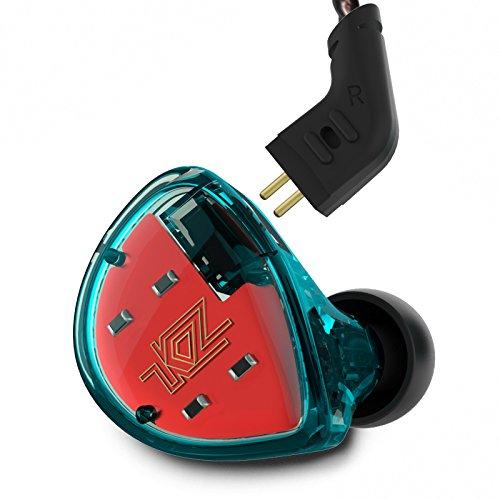 KZ ES4 Dynamic Balanced Armature Hybrid Technology Driver In-ear Earphones Non-mic, Cyan