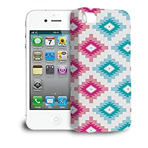 Phone Case For Apple iPhone 4/4S - Native American Tribal Brights Lightweight Cover