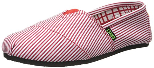 in Canvas Kaymann Red Loafer Slip On DAWGS Stripes Women's FqwEAgE0