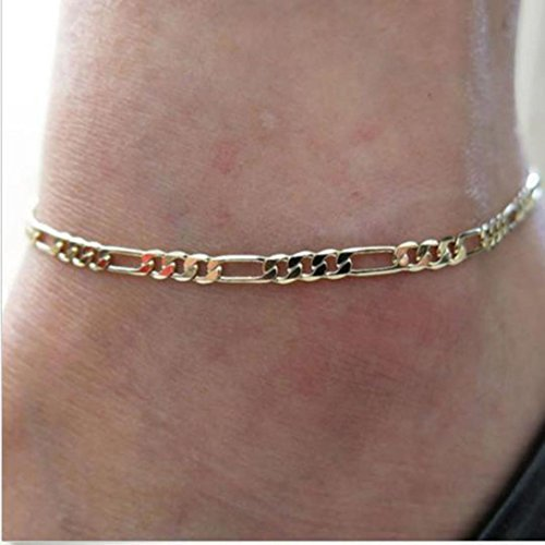 Clearance Anklet Sexy Shiny Women Chic Gold Chain Anklet Bracelet Foot Bangle Laimeng (Diamonds Vintage Bangle)