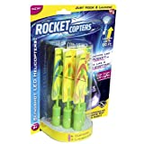 Light up the night with the incredible new Rocket Copters! The amazing light up helicopters can be fired up to 120 feet in the air from the included slingshots to dazzle during the day, or light up the night with their brilliant motions. Just hook an...