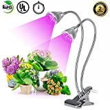 Plant Grow Lights Dual Head LED Bulbs 360 Degree Adjustable Gooseneck Lamp with Separate Switches for Indoor Greenhouse Hydroponics Gardening Office Plants For Sale