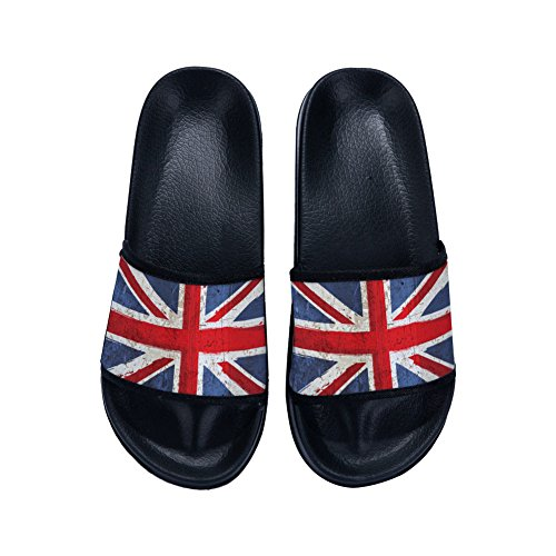Quick Slippers Drying Country Non for Slip Buteri Flag Vintage England Slippers Womens Black gfBp6Fp