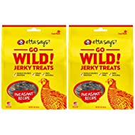 ETTA SAYS! Go Wild Jerky Treats for Dogs – Pack of 2 – Made in The USA, Single Source Protein, Grain-Free, Glycerin-Free (Pheasant)