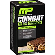 Mp Muscle Pharm Combat Crunch Snack Bar, Chocolate Chip Cookie Dough, 4 Bars