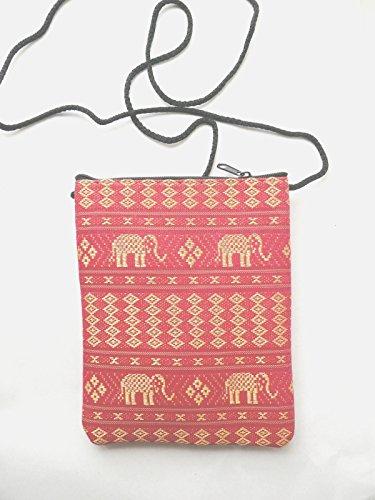 pockets 2 with passport shoulder bag Elephant pink f1qUPWw