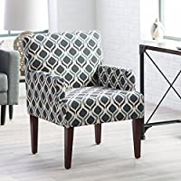 Belham Living Geo Accent Blue Rain Geometric Color Chair with Arms