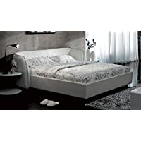 Vitali Leather Platform Queen Bed by Zuri Furniture- White