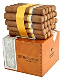 Cigar Case With (Authentic Cigar Puros Habanos Cohiba Robustos From Cuba. Cigars to Smoke and Buy) Straight From Factory Original Unopened Box Of 25 Certified 100% Made by Hand. Smokers Fancy Gift