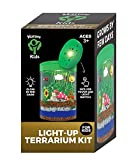 Glow-in-The-Dark Terrarium Kit for Kids LED Light on Lid | Create Your Own Customized Mini Science Garden | Educational Set for Birthday Gifts | Best STEM Toys Present for Children [Ages 3-12]