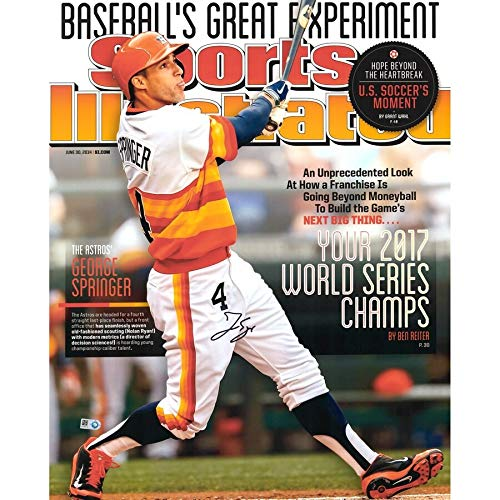 George Springer Houston Astros FAN Authentic 2017 MLB World Series Champions Autographed Signed 16x20 Sports Illustrated Cover Photograph - Certified Signature