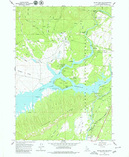 YellowMaps Island Park Dam ID topo map, 1:24000 scale, 7.5 X 7.5 Minute, Historical, 1964, updated 1979, 26.8 x 22 IN - Paper