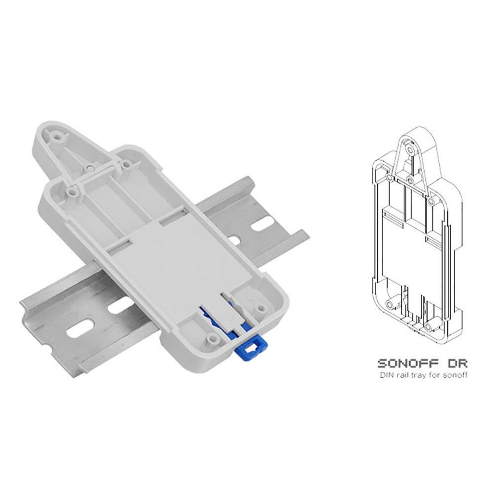 Royalr Bandeja Carril DIN Sonoff DR Ajustable del sostenedor montado en la Caja de rieles para Rack de soluciones de Montaje para los Productos Sonoff AmzRoyalr1390