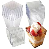 Z-Color ® 40pcs 4oz Embellish Crystal Clear Hard Plastic Dessert Cups With Spoons