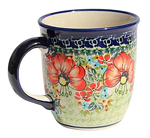 - Polish Pottery Mug 12 Oz. From Zaklady Ceramiczne Boleslawiec 1105-296 Art Signature Pattern, Capacity: 12 Oz.