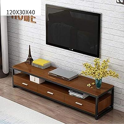 Yinglihua El Soporte De Mueble De TV Medios De Almacenamiento Televisión Salón Destacan Ver La Televisión For Cualquier Habitación De La Casa Base De TV Consola (Color : Brown, Size : 120x40x30cm):