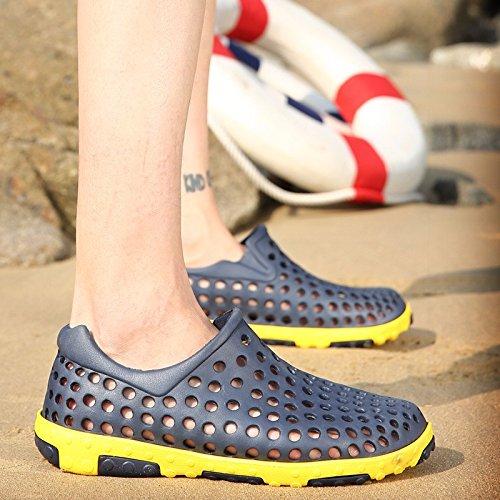 Il nuovo estate Uomini scarpa Buco scarpa mode Spiaggia scarpa Taglia larga traspirante sandali Roma Tempo libero scarpa Uomini ,blu,US=10,UK=9.5,EU=44,CN=46