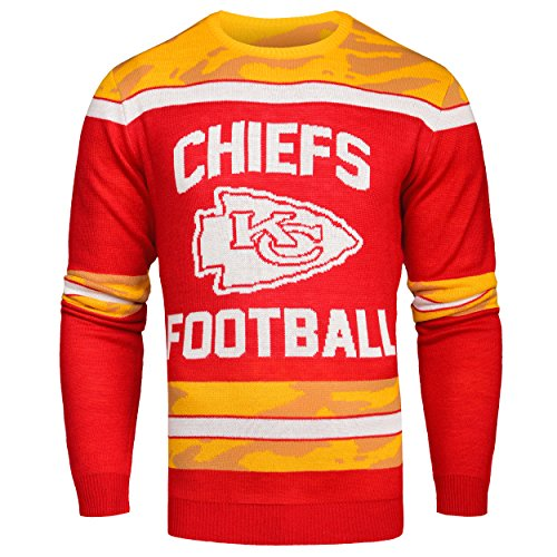 FOCO Kansas City Chiefs Ugly Glow In The Dark Sweater - Mens - Mens Extra Large by FOCO