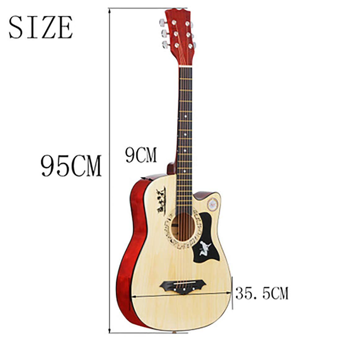 NUYI Principiante De 38 Pulgadas Guitarra Folk Guitarra ...