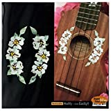 Ukulele - Hibiscus Flowers Rosette Purfling Inlay Stickers Decals