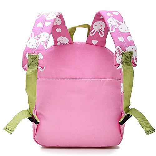 Speedeve Lovely Bunny Cubs Mädchen Boy Kinder Rucksack, kindergarten Baby backpack Schultasche Rucksack Umhängetasche Kindergartentasche Outdoor Sports Camping Picknick Rucksäcke kreativ Geschenk Spie pink