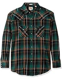 Men's Tall Size Long Sleeve Western Flannel Shirt