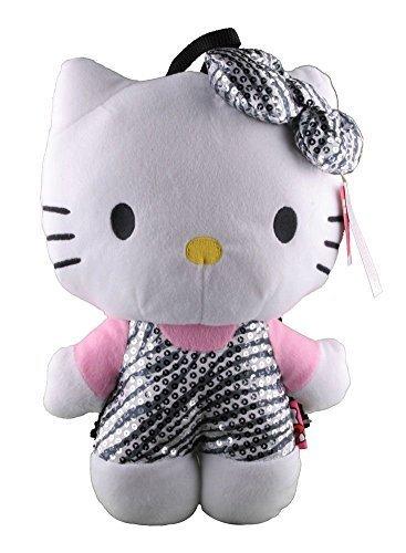 Hello Kitty Zebra Sequin Plush Backpack by Fashion Accessory Bazaar