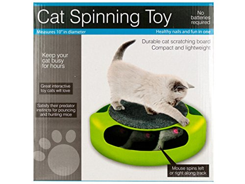 Cat Scratch Pad Spinning Toy with Mouse - Pack of 4